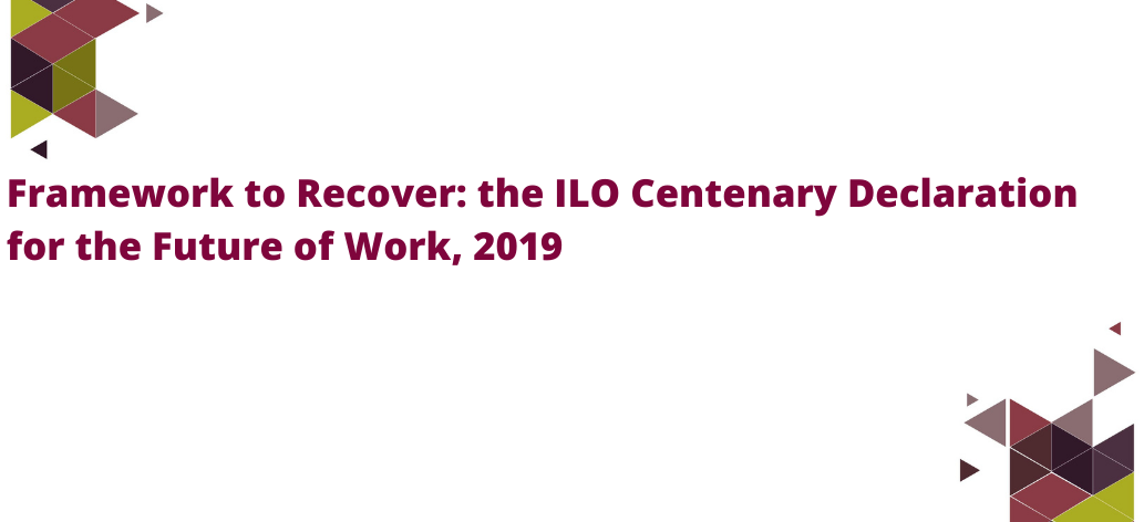 Fact Friday Banner - Framework to Recover - ILO Centenary Declaration V2
